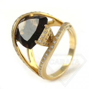 Перстень с морионом