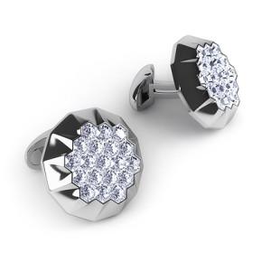 Серьги с бриллиантами - невидимая закрепка