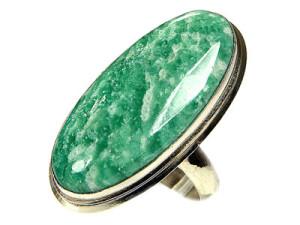 Перстень с натуральным амазонитом
